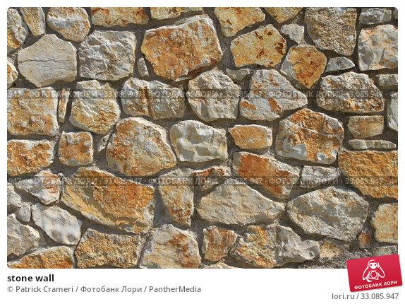 Купить «stone wall», фото № 33085947, снято 20 февраля 2020 г. (c) PantherMedia / Фотобанк Лори