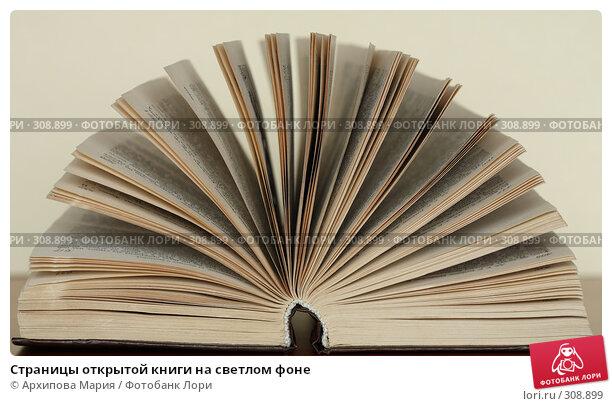 Страницы открытой книги на светлом фоне, фото № 308899, снято 3 июня 2008 г. (c) Архипова Мария / Фотобанк Лори