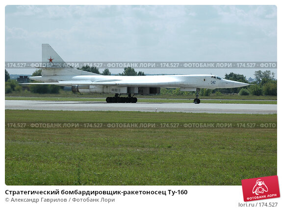 Стратегический бомбардировщик-ракетоносец Ту-160, фото № 174527, снято 25 января 2004 г. (c) Александр Гаврилов / Фотобанк Лори