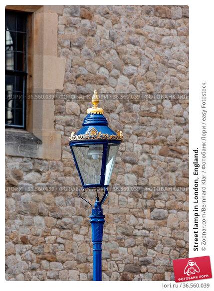 Street lamp in London, England. Стоковое фото, фотограф Zoonar.com/Bernhard Klar / easy Fotostock / Фотобанк Лори