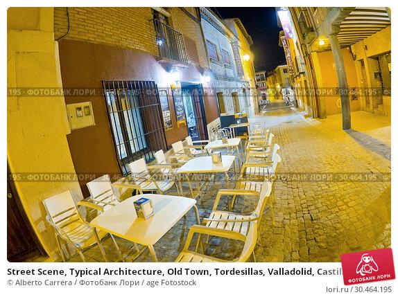 Street Scene, Typical Architecture, Old Town, Tordesillas, Valladolid, Castilla y León, Spain, Europe. Стоковое фото, фотограф Alberto Carrera / age Fotostock / Фотобанк Лори