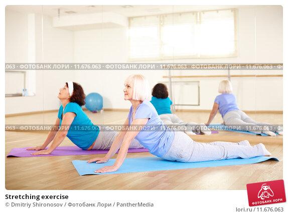 Купить «Stretching exercise», фото № 11676063, снято 21 апреля 2019 г. (c) PantherMedia / Фотобанк Лори
