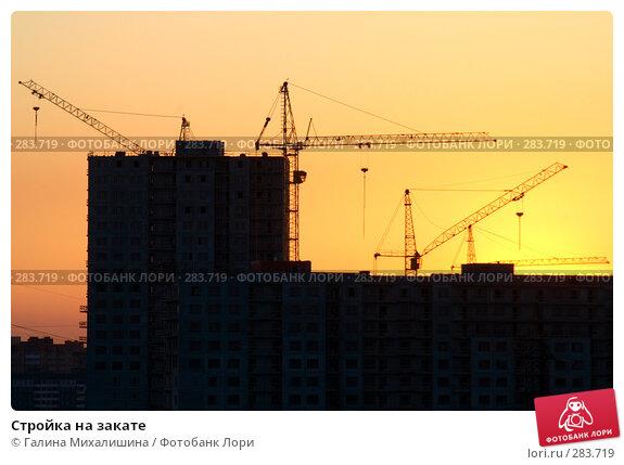 Стройка на закате, фото № 283719, снято 4 мая 2008 г. (c) Галина Михалишина / Фотобанк Лори