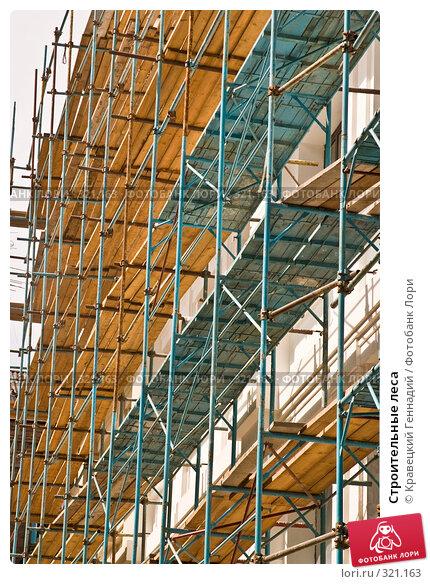 Купить «Строительные леса», фото № 321163, снято 6 августа 2004 г. (c) Кравецкий Геннадий / Фотобанк Лори