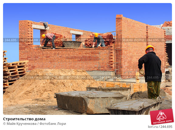 Строительство дома, фото № 244695, снято 5 апреля 2008 г. (c) Майя Крученкова / Фотобанк Лори