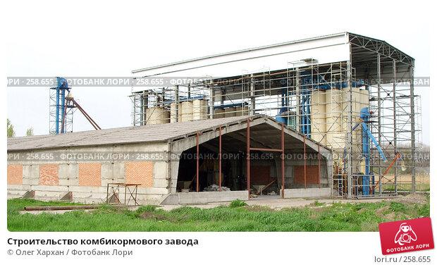 Строительство комбикормового завода, фото № 258655, снято 17 апреля 2008 г. (c) Олег Хархан / Фотобанк Лори