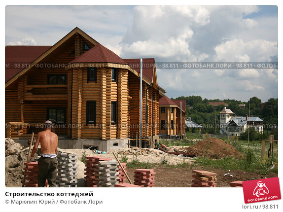Строительство коттеджей, фото № 98811, снято 3 июля 2007 г. (c) Марюнин Юрий / Фотобанк Лори