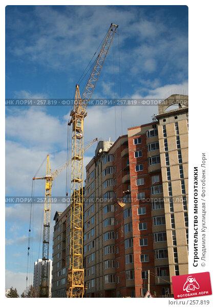 Строительство многоэтажки, фото № 257819, снято 21 марта 2008 г. (c) Людмила Куклицкая / Фотобанк Лори