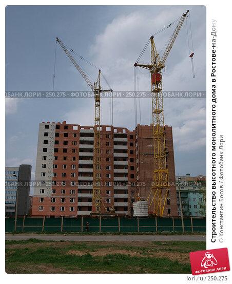Строительство высотного монолитного дома в Ростове-на-Дону, фото № 250275, снято 22 января 2017 г. (c) Константин Босов / Фотобанк Лори
