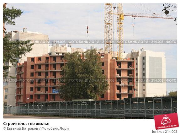 Строительство жилья, фото № 214003, снято 20 августа 2007 г. (c) Евгений Батраков / Фотобанк Лори
