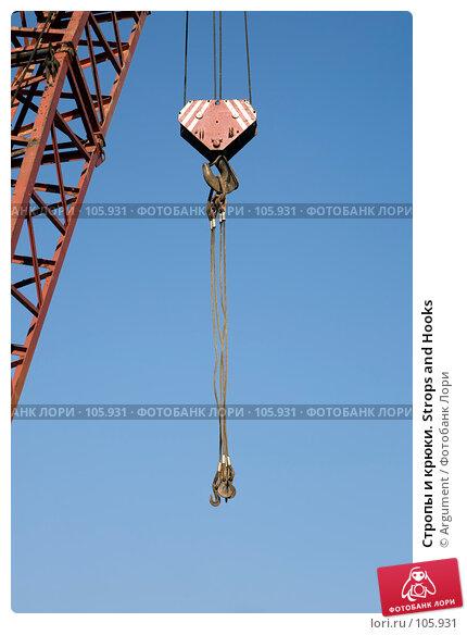 Стропы и крюки. Strops and Hooks, фото № 105931, снято 1 октября 2007 г. (c) Argument / Фотобанк Лори