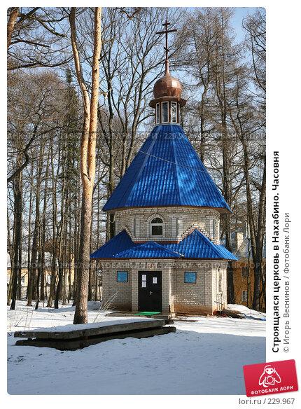 Строящаяся церковь в Нахабино. Часовня, фото № 229967, снято 22 марта 2008 г. (c) Игорь Веснинов / Фотобанк Лори
