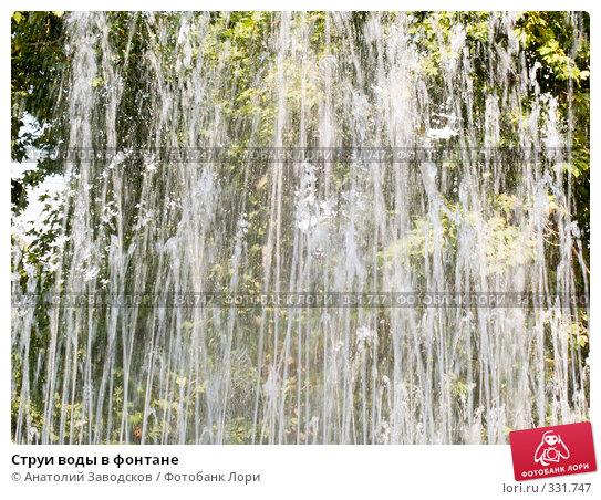 Струи воды в фонтане, фото № 331747, снято 23 сентября 2007 г. (c) Анатолий Заводсков / Фотобанк Лори