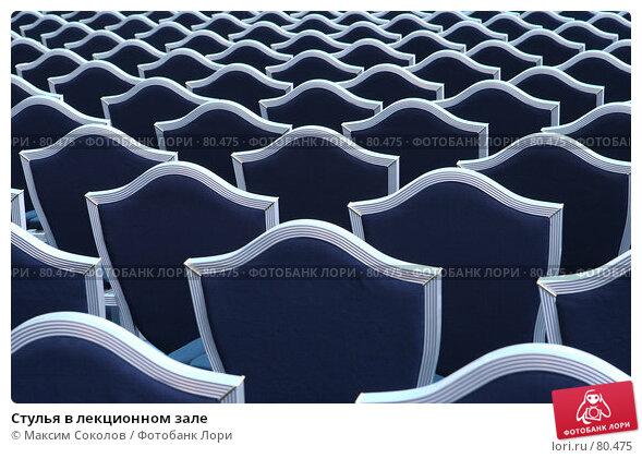 Стулья в лекционном зале, фото № 80475, снято 30 августа 2007 г. (c) Максим Соколов / Фотобанк Лори