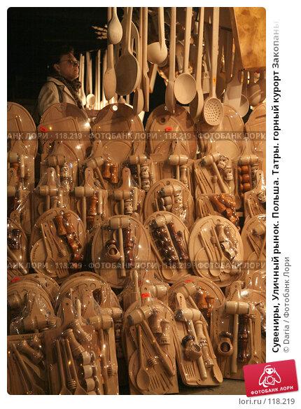 Купить «Сувениры, Уличный рынок. Польша. Татры. горный курорт Закопаны, ул. Круповка», фото № 118219, снято 25 апреля 2018 г. (c) Daria / Фотобанк Лори