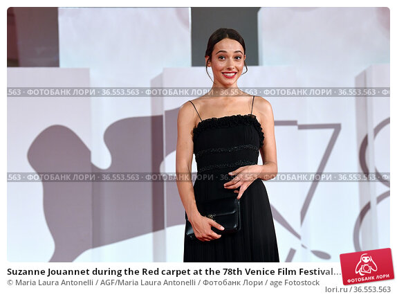 Suzanne Jouannet during the Red carpet at the 78th Venice Film Festival... Редакционное фото, фотограф Maria Laura Antonelli / AGF/Maria Laura Antonelli / age Fotostock / Фотобанк Лори