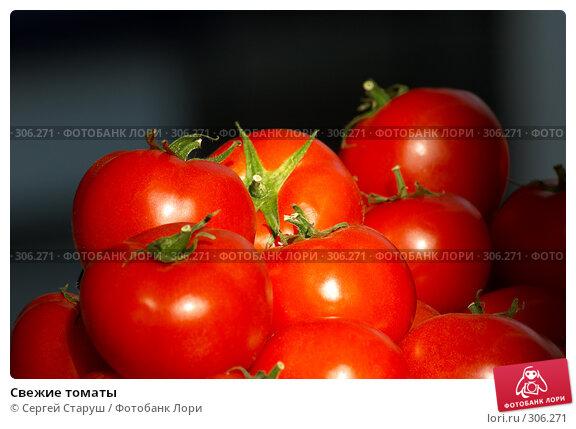 Свежие томаты, фото № 306271, снято 1 июня 2008 г. (c) Сергей Старуш / Фотобанк Лори