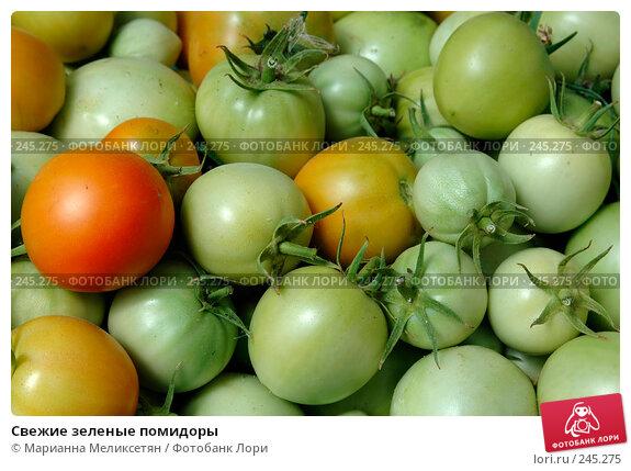 Свежие зеленые помидоры, фото № 245275, снято 21 июля 2007 г. (c) Марианна Меликсетян / Фотобанк Лори