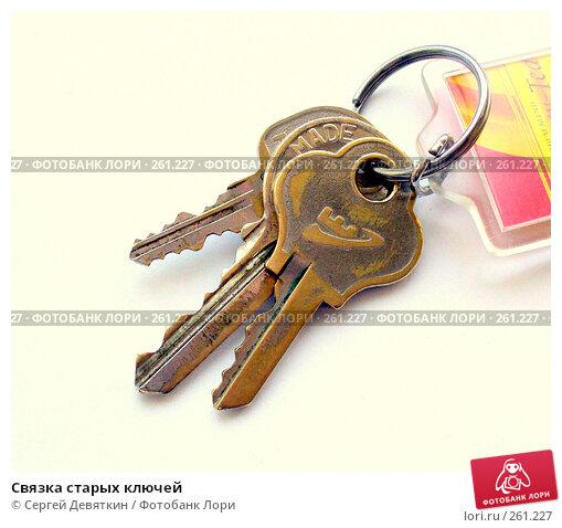 Купить «Связка старых ключей», фото № 261227, снято 16 апреля 2008 г. (c) Сергей Девяткин / Фотобанк Лори