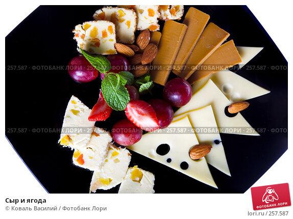 Купить «Сыр и ягода», фото № 257587, снято 31 марта 2008 г. (c) Коваль Василий / Фотобанк Лори