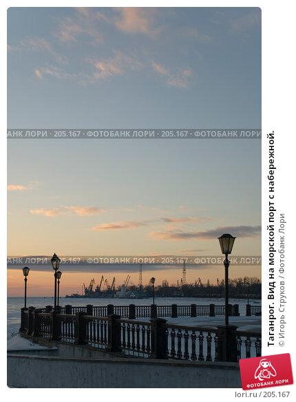 Таганрог. Вид на морской порт с набережной., фото № 205167, снято 16 февраля 2008 г. (c) Игорь Струков / Фотобанк Лори