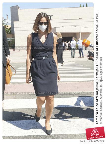 Tamara Falco attend Jaime Carvajal's Funeral at Funeral home La Paz... Редакционное фото, фотограф Manuel Cedron / age Fotostock / Фотобанк Лори