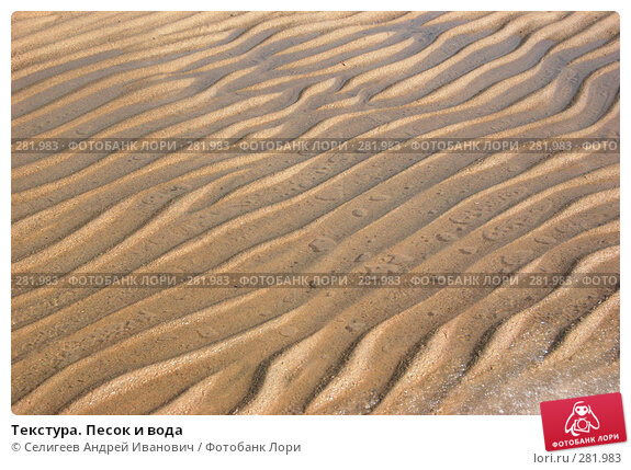Текстура. Песок и вода, фото № 281983, снято 22 апреля 2007 г. (c) Селигеев Андрей Иванович / Фотобанк Лори