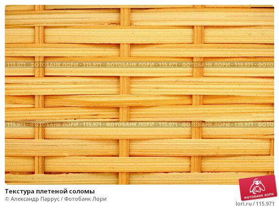 Текстура плетеной соломы, фото № 115971, снято 15 сентября 2007 г. (c) Александр Паррус / Фотобанк Лори
