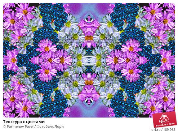 Купить «Текстура с цветами», фото № 189963, снято 21 декабря 2007 г. (c) Parmenov Pavel / Фотобанк Лори