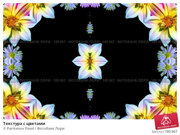 Купить «Текстура с цветами», фото № 189967, снято 21 декабря 2007 г. (c) Parmenov Pavel / Фотобанк Лори
