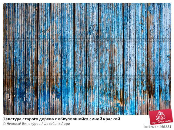 Купить «Текстура старого дерева с облупившейся синей краской», фото № 4466351, снято 7 марта 2013 г. (c) Николай Винокуров / Фотобанк Лори