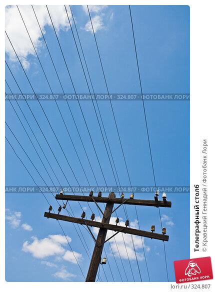 Телеграфный столб, фото № 324807, снято 2 мая 2006 г. (c) Кравецкий Геннадий / Фотобанк Лори