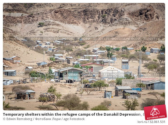 Temporary shelters within the refugee camps of the Danakil Depression, Ethiopia. Danakil Depression , Ethiopia. Стоковое фото, фотограф Edwin Remsberg / age Fotostock / Фотобанк Лори