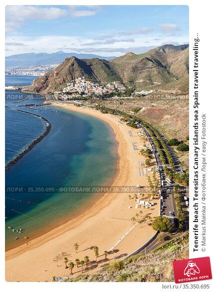 Tenerife beach Teresitas Canary islands sea Spain travel traveling... Стоковое фото, фотограф Markus Mainka / easy Fotostock / Фотобанк Лори