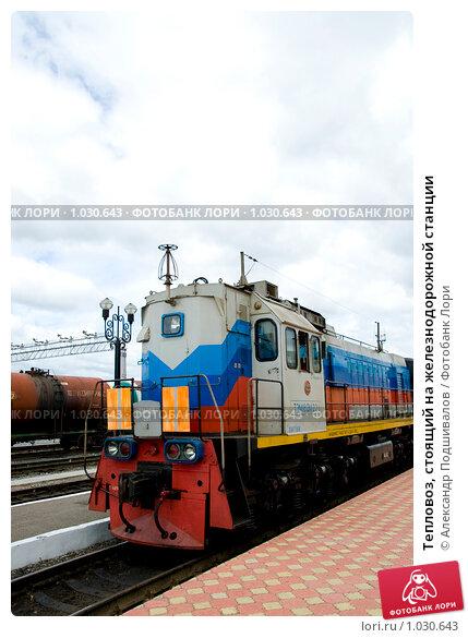 Купить «Тепловоз, стоящий на железнодорожной станции», фото № 1030643, снято 19 июня 2009 г. (c) Александр Подшивалов / Фотобанк Лори