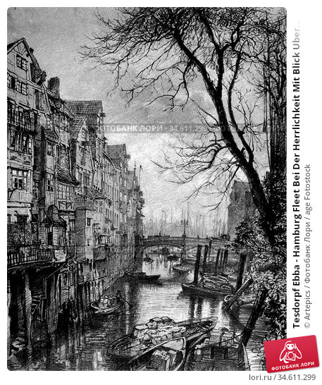 Tesdorpf Ebba - Hamburg Fleet Bei Der Herrlichkeit Mit Blick Uber... Редакционное фото, фотограф Artepics / age Fotostock / Фотобанк Лори