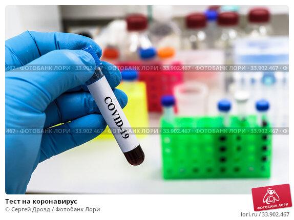 Тест на коронавирус. Стоковое фото, фотограф Сергей Дрозд / Фотобанк Лори