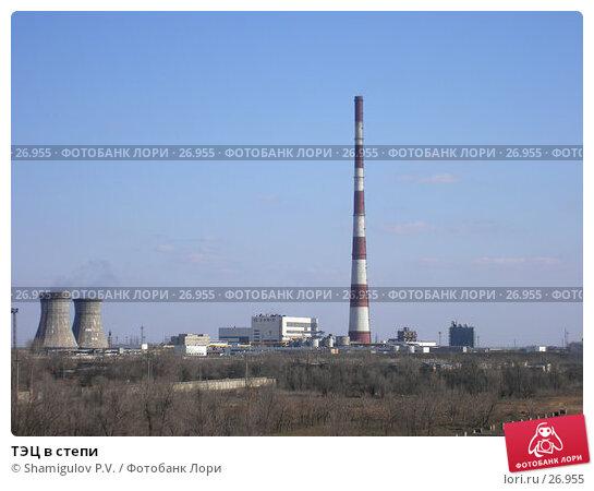 ТЭЦ в степи, фото № 26955, снято 24 марта 2007 г. (c) Shamigulov P.V. / Фотобанк Лори
