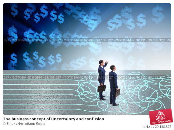 Купить «The business concept of uncertainty and confusion», фото № 29138327, снято 24 октября 2018 г. (c) Elnur / Фотобанк Лори