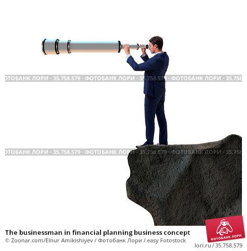 The businessman in financial planning business concept. Стоковое фото, фотограф Zoonar.com/Elnur Amikishiyev / easy Fotostock / Фотобанк Лори