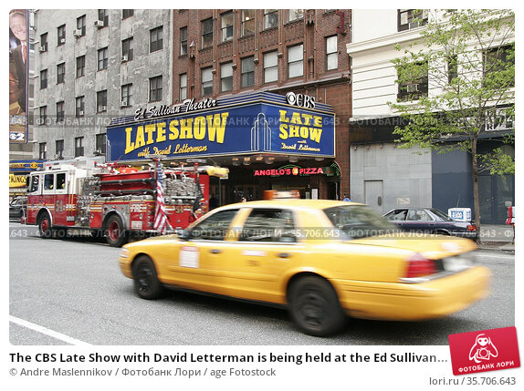The CBS Late Show with David Letterman is being held at the Ed Sullivan... Стоковое фото, фотограф Andre Maslennikov / age Fotostock / Фотобанк Лори