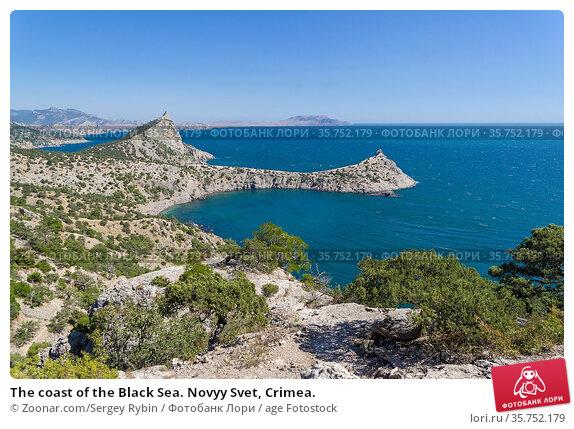 The coast of the Black Sea. Novyy Svet, Crimea. Стоковое фото, фотограф Zoonar.com/Sergey Rybin / age Fotostock / Фотобанк Лори