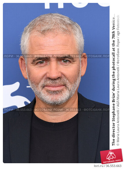 The director Stephane Brize' during the photocall at the 78th Venice... Редакционное фото, фотограф Maria Laura Antonelli / AGF/Maria Laura Antonelli / age Fotostock / Фотобанк Лори