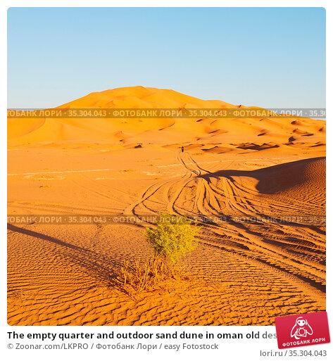 The empty quarter and outdoor sand dune in oman old desert rub al... Стоковое фото, фотограф Zoonar.com/LKPRO / easy Fotostock / Фотобанк Лори