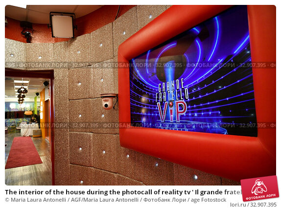 The interior of the house during the photocall of reality tv ' Il grande fratello Vip ' Rome, ITALY-07-01-2020. Редакционное фото, фотограф Maria Laura Antonelli / AGF/Maria Laura Antonelli / age Fotostock / Фотобанк Лори