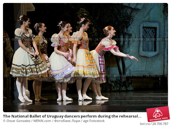 Купить «The National Ballet of Uruguay dancers perform during the rehearsal of 'Coppelia' at El Canal Theatre in Madrid Featuring: Atmosphere Where: Madrid, Spain...», фото № 28700787, снято 27 декабря 2016 г. (c) age Fotostock / Фотобанк Лори
