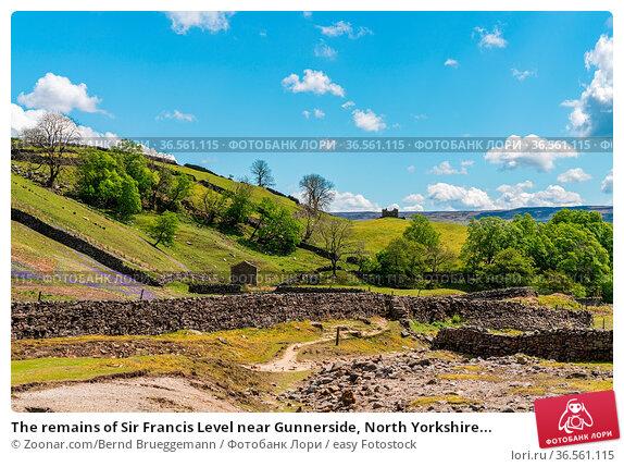 The remains of Sir Francis Level near Gunnerside, North Yorkshire... Стоковое фото, фотограф Zoonar.com/Bernd Brueggemann / easy Fotostock / Фотобанк Лори