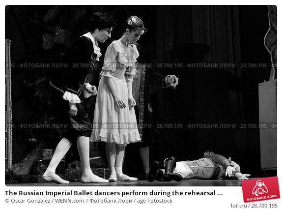Купить «The Russian Imperial Ballet dancers perform during the rehearsal of 'El Cascanueces' at Lope de Vega Theatre in Madrid, Spain. Where: Madrid, Community...», фото № 28700195, снято 27 декабря 2016 г. (c) age Fotostock / Фотобанк Лори