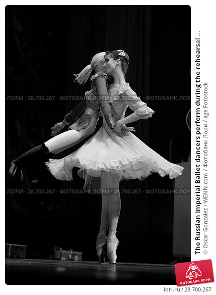 Купить «The Russian Imperial Ballet dancers perform during the rehearsal of 'El Cascanueces' at Lope de Vega Theatre in Madrid, Spain. Where: Madrid, Community...», фото № 28700267, снято 27 декабря 2016 г. (c) age Fotostock / Фотобанк Лори