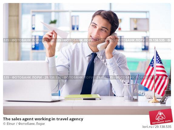 Купить «The sales agent working in travel agency», фото № 29138535, снято 18 сентября 2017 г. (c) Elnur / Фотобанк Лори